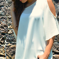 Just For Show Top - Ivory