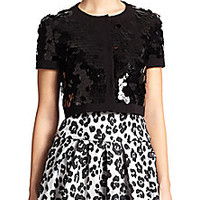 Moschino Cheap And Chic - Sequined Crop Jacket - Saks Fifth Avenue Mobile