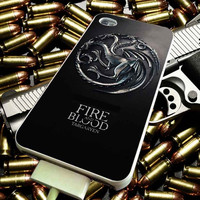 Game of Thrones Fire and Blood Targayen for iPhone 4/4s/5/5s/5c/6/6 Plus Case, Samsung Galaxy S3/S4/S5/Note 3/4 Case, iPod 4/5 Case, HtC One M7 M8 and Nexus Case ***