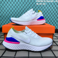 HCXX N100 Nike Air Max React Flyknit Embroidery Hook Causal Running Shoes White