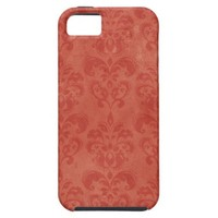 Retro Red Damask Vintage iPhone 5 Covers