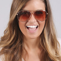 go-to aviator sunnies - brown