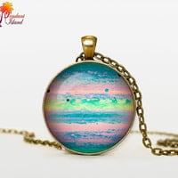 JUPITER Pendant  Jupiter necklace  planet necklace galaxy Universe Necklace  Space universe  Art Gifts for Her for men for him and