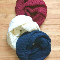 Winter Frost Infinity Scarf