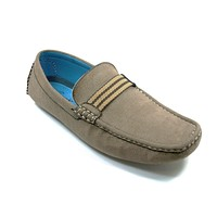 Mens Bravo Moccasin Driver Slip On Casual Loafers MOC-1 Taupe