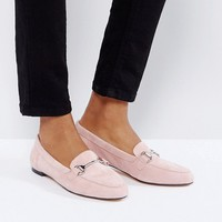 Office Blush Suede Loafers at asos.com