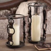Bridle Strap Glass Candle Holders - Candles - Home Decor - Home