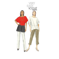VOGUE 8913 TUNIC PATTERN Top Blouse Pullover Tunic with Dolman Sleeves Very Easy Vogue Size 16 - 26 UNCuT Plus Size Women's Sewing Patterns
