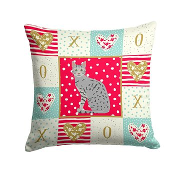 Egyptian Mau Cat Love Fabric Decorative Pillow CK5760PW1414