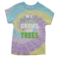 My Money Grows On Trees Youth Tie-Dye T-shirt
