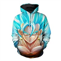 Dragon Ball Z Hoodie Sweatshirts Son Goku Vegeta 3D Hoodies Pullovers Men Women Long Sleeve Outerwear Hip Hop Hoodie A