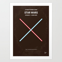 My Star Wars minimal movie poster Art Print by Chungkong