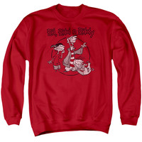 ED EDD N EDDY/GANG - ADULT CREWNECK SWEATSHIRT - RED -