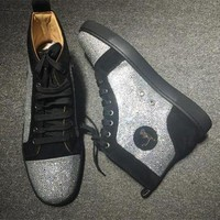 DCCK2 Cl Christian Louboutin Rhinestone Style #2104 Sneakers Fashion Shoes