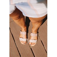 Sassy Scalloped Sandals