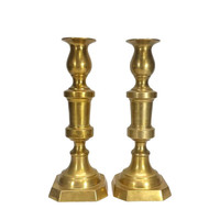 Brass Candle Holders Pair Large Wedding Centerpiece Table Gold Home Decor Tall Set Candlesticks