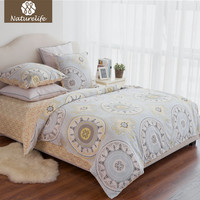 Naturelife New Bedding set Cotton cover bed sheet duvet cover sets comforter farmhouse style bedding sets housse de couette 4pcs