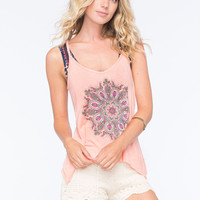 O'neill Marky Mandala Womens Tank Coral  In Sizes