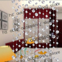 free shipping 10 meters glass crystal beads curtain window door curtain passage wedding backdrop