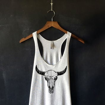 Bison Skull Tank Top for Women
