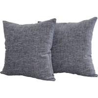 Mainstays Decorative Chenille Pillow, Two-Pack, Gray - Walmart.com