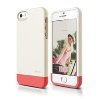 iPhone SE case, elago [Glide-Limited][Coconut / Italian Rose] - [Mix and Match][Premium Armor][True Fit] - for iPhone SE/5/5S