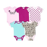 Baby Gear 5-pk. Grow-With-Me Bodysuits - Baby Girl, Size: