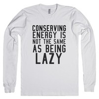 Lazy-Unisex White T-Shirt