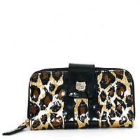 Loungefly – Hello Kitty Leopard Patent Embossed Wallet In Leopard|Thirteen Vintage