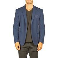 Bespoke Men's Embroidered Patch Sport Coat Blazer