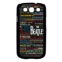 the beatles typography song lyric Samsung Galaxy S3 Case