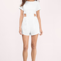 Sparks Cut Out Shift Romper