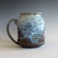 Pottery Coffee Mug, 19 oz, unique coffee mug, handmade ceramic cup, handthrown mug, stoneware mug, wheel thrown pottery mug, ceramics