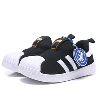 Origin Superstar with Logo Luxury Brand 3 Striped Children Casual Shoes Boys Girls Sneakers Kids Shoes S32130