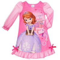 """Disney® Sophia the First """"I Passed the Princess Test"""" Ruffle Gown in Pink"""