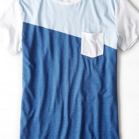 AEO Men's Colorblock Pocket T-shirt (Power Sky)
