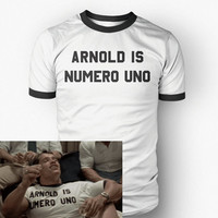 Arnold Is Numero Uno T-Shirt - arnold schwarzenegger tshirt, funny celebrity tee shirt, mens, gift,  movie, humor, pumping iron, work out