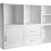 Foremost Modular 5-in-1 Shelf Cube Storage System, White