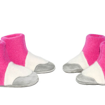 Baby Girl Slippers, Toddler Cashmere Boots, Wool Baby Slippers