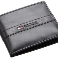 Tommy Hilfiger Men's Leather Ranger Passcase Wallet with Removable Card Case