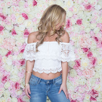 Scallop Sunshine Off Shoulder Top