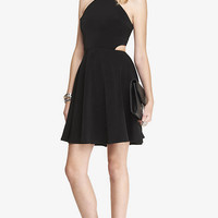 High Neck Cut-out Fit And Flare Dress from EXPRESS