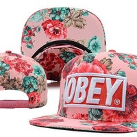 Perfect OBEY Women Men Embroidery Sports Sun Hat Baseball Cap Hat