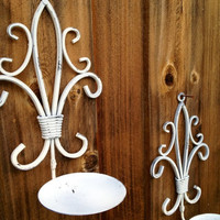 Shabby Chic Distressed Hanging Candle Holders//Wall Sconce