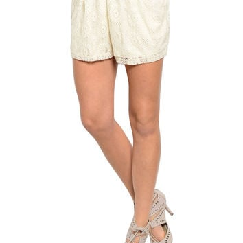Dressy Chic Crochet Lace Shorts