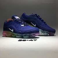 """Nike Air VaporMax"" Unisex Sport Casual Fashion Rainbow Air Cushion Nano-drop Plastic Running Shoes Couple Sneakers"