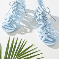 Twists and Head Turns Sandal in Powder Blue | Mod Retro Vintage Sandals | ModCloth.com
