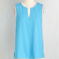 Mid-length Sleeveless Always Smiling Top