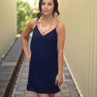 Dainty Day Dress- Navy