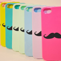 Iphone 5 Rubber Cases with a Mustache